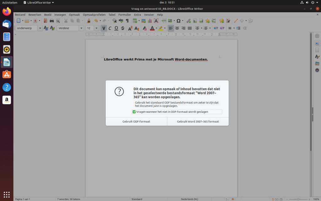 OpenOffice of LibreOffice bieden een goed gratis alternatief voor Microsoft Office.