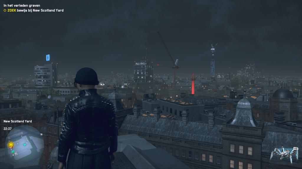 Met mijn tweede teammaat op zoek naar New Scotland Yard.